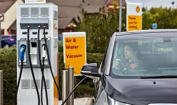 shell charging point for electric cars
