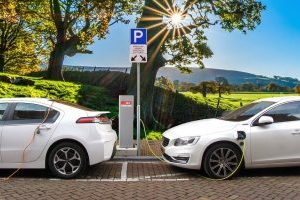 double electric car charging point