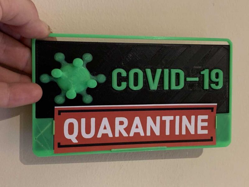 covid19 dual colour 3d printed board