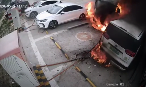 a failure during the charging process leads to a massive fire