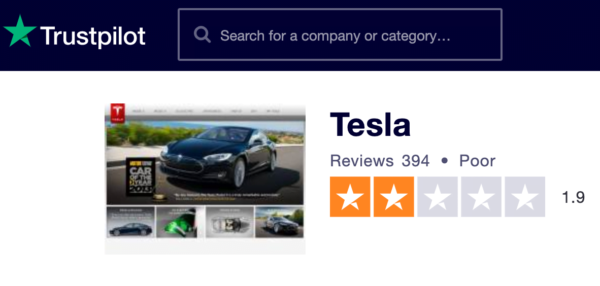tesla poor reviews from uk customers